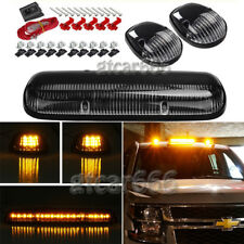 3x Roof Cab Marker Lights Amber LED For 2002-2007 Chevy Silverado GMC Sierra
