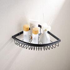 Wall Mounted Shower Basket Corner Shelf Black Bathroom Bath Caddy Storage Rack