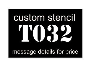 STENCILS & Masks  PRO QUALITY  CUSTOM to your needs     FREE Env  POST