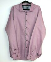 Ted Baker London Men's Button Up Mauve Long Sleeve Shirt Size XXL