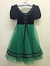 Girl Intermediate Wolff Fording Dance Dress Green Black Peasant Lyrical