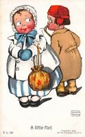 Katharine Gassaway artwork Postcard Boy Flirting With Girl A Little Flirt~118935