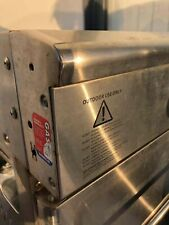 Steel BBQ oven, with full accessories, gas used