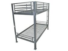 Bunkit Contract Heavy Duty Metal Bunk Bed in Silver 5 year Guarantee
