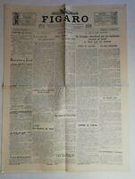 N999 La Une Du Journal Le Figaro 30 Octobre 1929 bulletin du jour