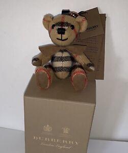 Burberry Thomas Bear Charm for Handbag Or Keychain NWT.
