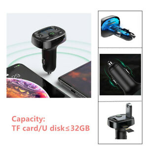 Car SUV USB Charger for Phone Handsfree FM Transmitter Player Bluetooth TF Card