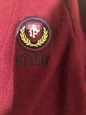 Men's M Abercrombie & Fitch College Cardigan Logo Sweater Was $250 NWT