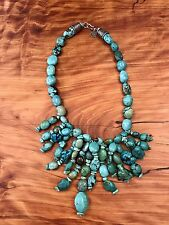 INCREDIBLE! Double D Ranch Wear Turquoise Sterling Silver Waterfall Necklace