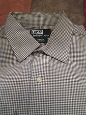 "POLO BY RALPH LAUREN ""CURHAM CLASSIC FIT"" BLACK & WHITE SHIRT SIZE 17/36-37"