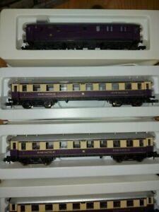 Arnold Spur N Rheingold Express Zug-Set 5-tlg Personenwagen 1./2.Kl. OVP