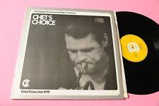 CHET BAKER LP CHET'S CHOICE ORIG 1985 NM !!!!!!!!!!!!!!!!!!!!!!!!!!!!!