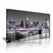 New York Stretched Canvas Wall Art Picture Print 60x30cm