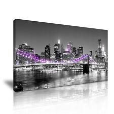 Nueva York estirada LONA pared arte Foto impresión 60x30cm