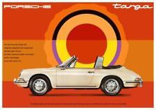 Porsche ** POSTER ** 911 Targa convertible 356 912 Carerra