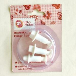 Hilly's Kitchen Heart Shaped Fondant Plunger Cutters