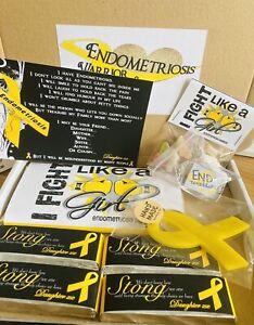 ENDOMETRIOSIS AWARENESS HAMPER GIFT BOX PRESENT PERSONALISED 8 ITEMS WARRIOR