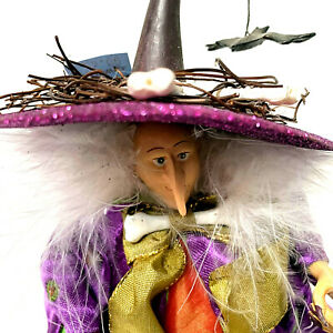 """Dept 56 Krinkles Large 12"""" Witch w Baby Dragons - Patience Brewster 2004-06 RARE"""