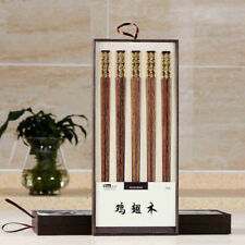 5 Pairs Natural Chicken Wing Wood Health Eco-Friendly Chopsticks Tableware New
