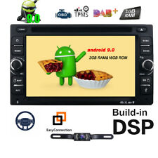 6.2'' inch Android 9.0 4G WiFi Double DIN Car Radio Stereo DVD Player GPS+Camera