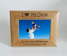 Uncle Photo Frame - I heart-Love My Uncle 6 x 4 Photo Frame - Free Engraving