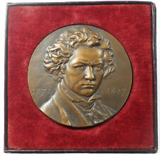 Music LUDWIG VAN BEETHOVEN composer bronze 68mm by Coutin
