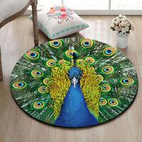 Fur Of Peacock Circle Velboa Floor Rugs Carpet Room Doormat Non-slip Mat 035