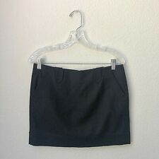 Vince Womens Mini Skirt Wool Size 4 Black Pockets