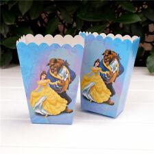 6 x Beauty And The Beast Kids Popcorn Sweet Box Party Happy Birthday