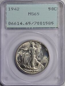 1942 50C Walking Liberty Half Dollar PCGS MS65 OGH RATTLER PRICED TO SELL