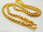 Chain 22K 23K 24K THAI BAHT YELLOW GOLD GP NECKLACE 20 INCH Jewelry Women