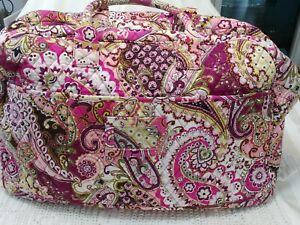 Vera Bradley Large Travel Bag with Front Sleeve - Very Berry Paisley