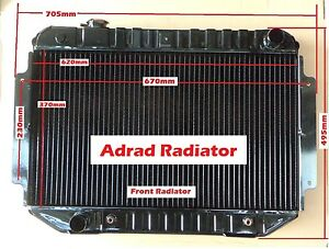 Radiator For Holden HQ HJ HZ HX LH LX V8 Torana Kingswood H/duty 3 Row Adrad New