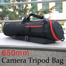 "650mm Padded Camera Tripod Shoulder Bag Carry Storage 25.5"" For Manfrotto Velbon"