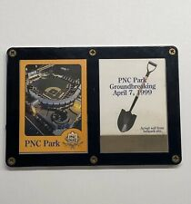 PNC Park Groundbreaking April 7, 1999 Collectible Cards w/ Real Soil