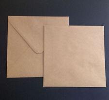 25 Envelopes KRAFT Craft Recycled Brown SQUARE 130mm  Quality Envelope 120 GSM