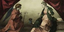 ANNUNCIAZIONE VERGINE MARIA Annunciation Virgin Mary - Incisione Originale 1800