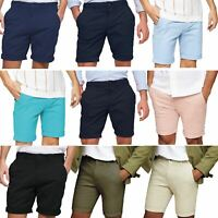 Mens Pull & Bear Stretch Chino Shorts Soft Touch Cotton Cargo Combat Half Pant
