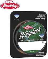 BERKLEY WHIPLASH PE DYNEEMA LoVis Green Fishing Braid Line ALL SIZES 300M/330YD