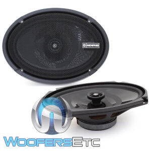 """MEMPHIS PRXS69 6""""X9"""" 100W 2-WAY COAXIAL 2 OHM SHALLOW MOUNT THIN SPEAKERS NEW"""