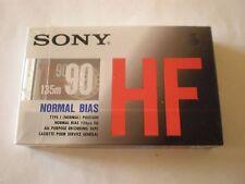SONY HF 90 TYPE I - Cassette Audio Sealed Blank Vintage Tape - NUOVA SIGILLATA