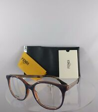 a41af2443c5 Brand New Authentic Fendi FF 0096 F Eyeglasses DXI Blue Orange Gold Frame