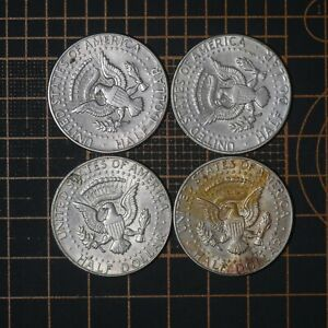 ½ Dollar 1964 D & P Kennedy United States  🇺🇸  Silver Lot 4 Coins  # 202