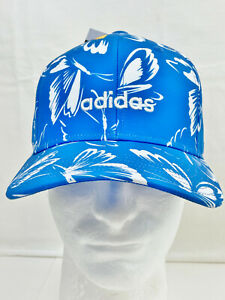 NWT ADIDAS WOMEN'S FIT CLIMALITE GRAPHIC BUTTERFLY CAP - BLUE