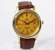 Omega Seamaster Cosmic 2000 Herren automatic Armbanduhr vergoldet Kaliber 1012