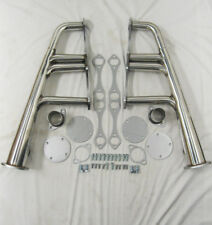 "SBC Chevy Lake Style Lakester Street Rat Rod Headers Stainless 1 5/8"" Tubes"