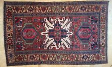 New listing Antique Eagle Kazak Caucasian Rug, Chelaberd, Three Medallions, 5' by 8'