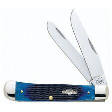 """Case 21205028002 Folding Knife Trapper Blue Bone 6254Ss Pattern 4 1/8"""" Folder"""