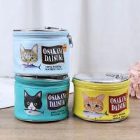 Cat Fish Cans Animal Makeup Bag Cute Bath Toiletry Bag Wash Pouch Women HandbaCR
