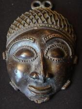 Ancien pendentif en bronze Ghana visage Afrique Antique african pendant 13cm